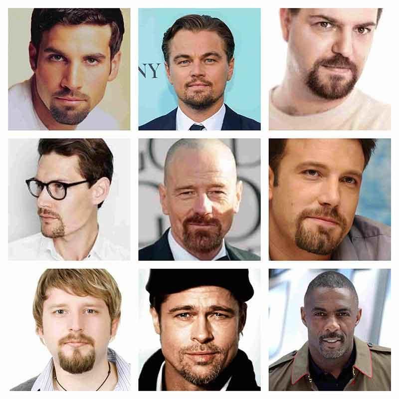estilos barba de candado o circular