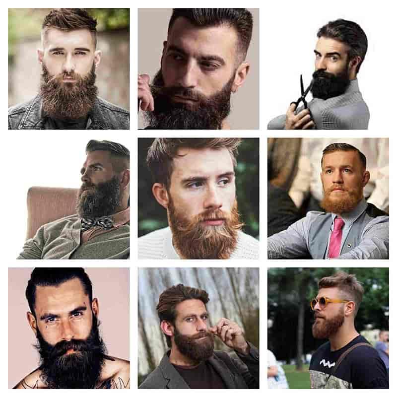 barba hombres estilo garibaldi