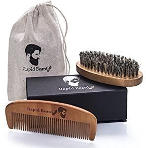 cepilo y peine para barba rapid beard