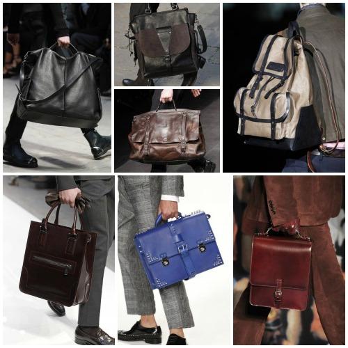 hombres con bolsos de cuero artsanales de oferta